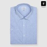 패션그룹형지 예작 사각 프린트 슬림핏 반소매 셔츠 YJ8MBP688BL_이미지