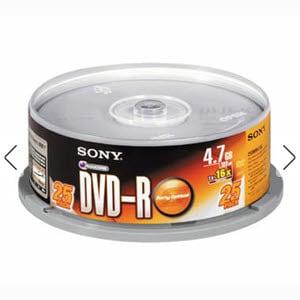 SONY DVD-R 4.7GB 16x 케익 25장_이미지