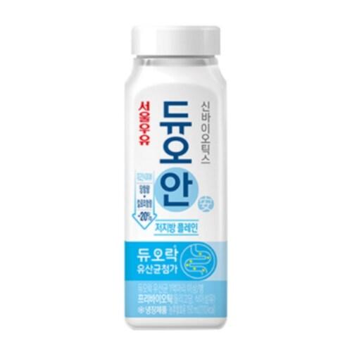 서울우유 신바이오틱스 듀오안 저지방 플레인 150ml (12개)_이미지