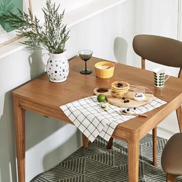 한샘몰  씨엘로 헴스 W 일방 확장형 식탁 1350 (의자별도)