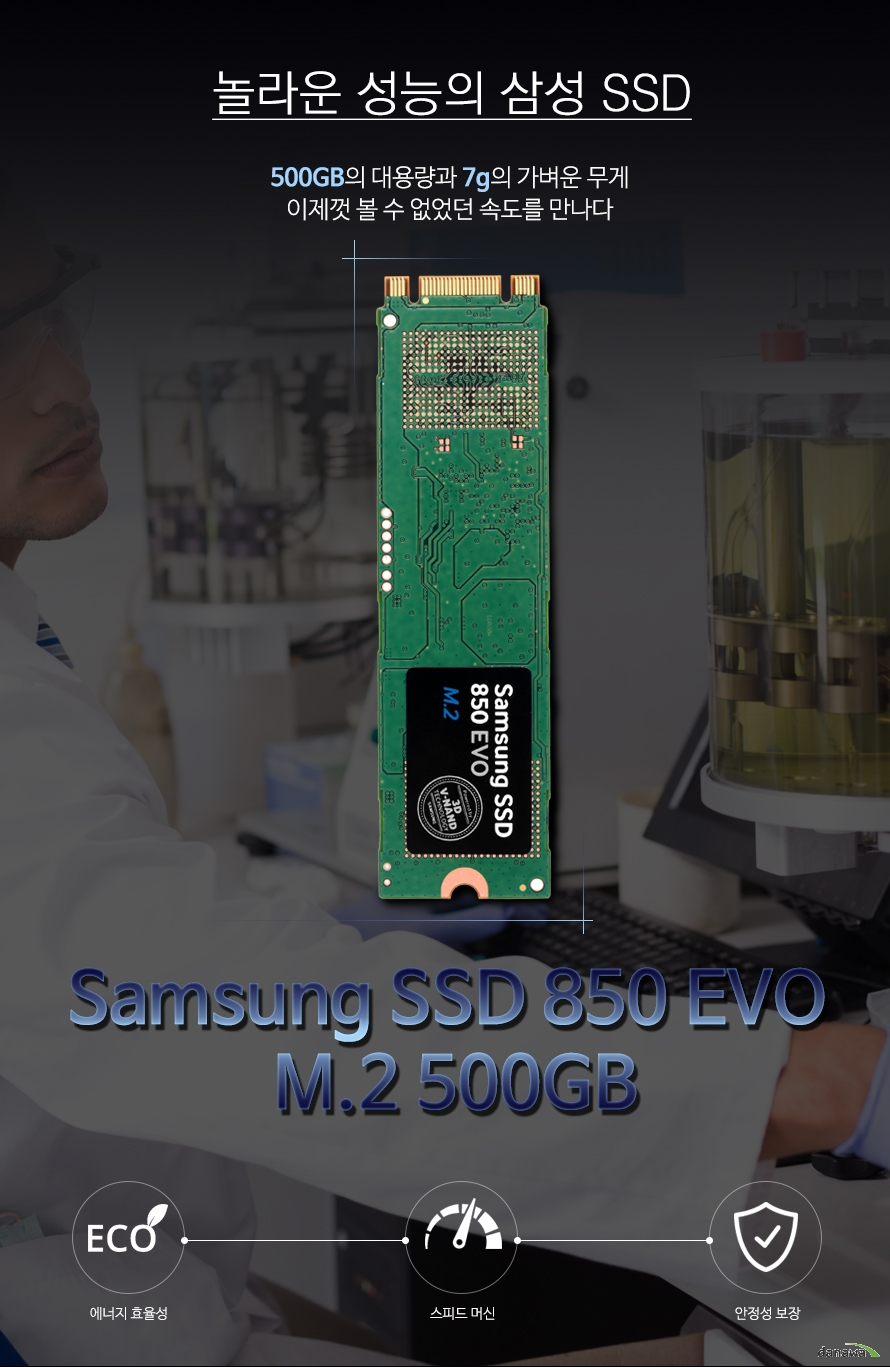 Samsung SSD 850 EVO M.2 500GB