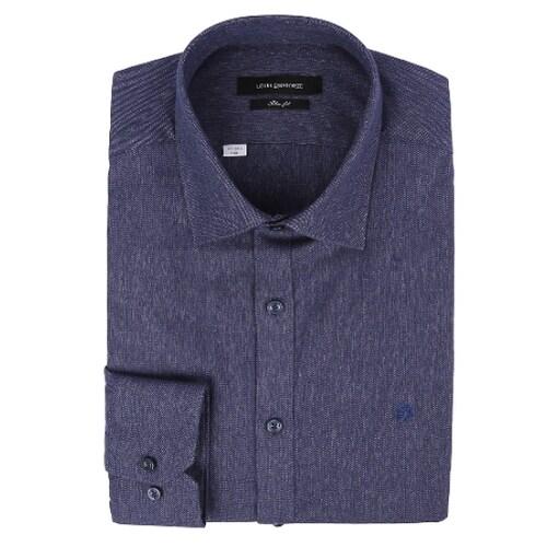 루이까또즈  긴소매 슬림핏 기모 셔츠 Q6C01C_이미지