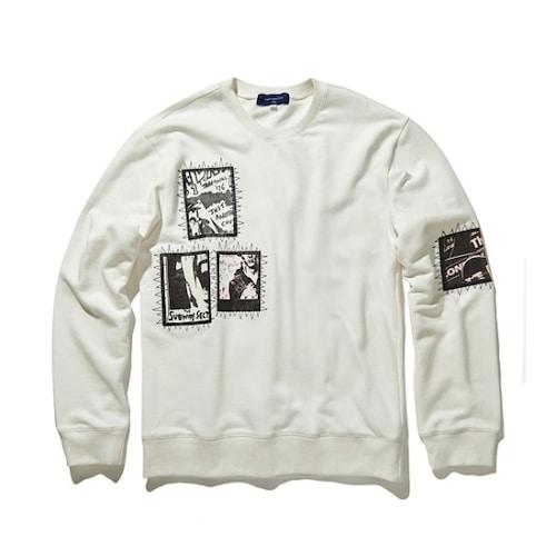 코오롱인더스트리 커스텀멜로우 artwork round sweatshirts CQTAW17671WHX_이미지