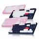 앱코 HACKER K611 텐키리스 카일광축 완전방수 축교환 게이밍 키보드 핑크 V2 (클릭)_이미지