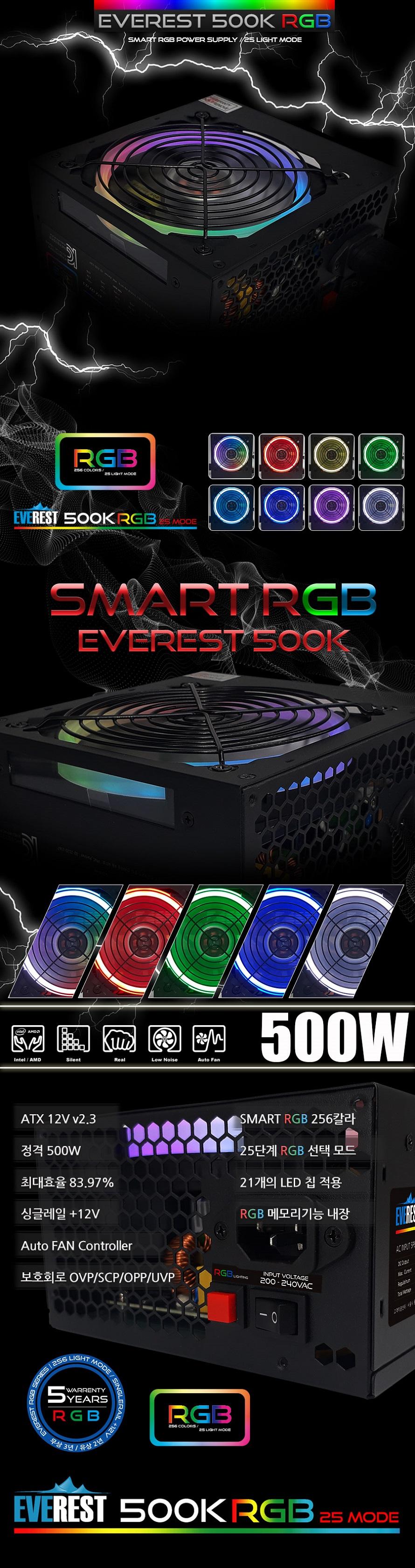 PNC PARTNER  EVEREST 500K RGB 벌크