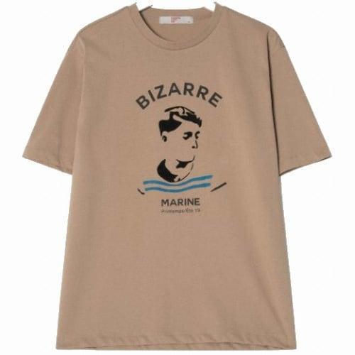 삼성물산 에잇세컨즈 남성 베이지 원 포인트 티셔츠 219342AYDA_이미지