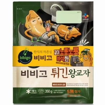 CJ제일제당 비비고 튀긴왕교자 350g (4개)