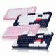 앱코 HACKER K611 텐키리스 카일광축 완전방수 축교환 게이밍 키보드 핑크 V2 (리니어)_이미지