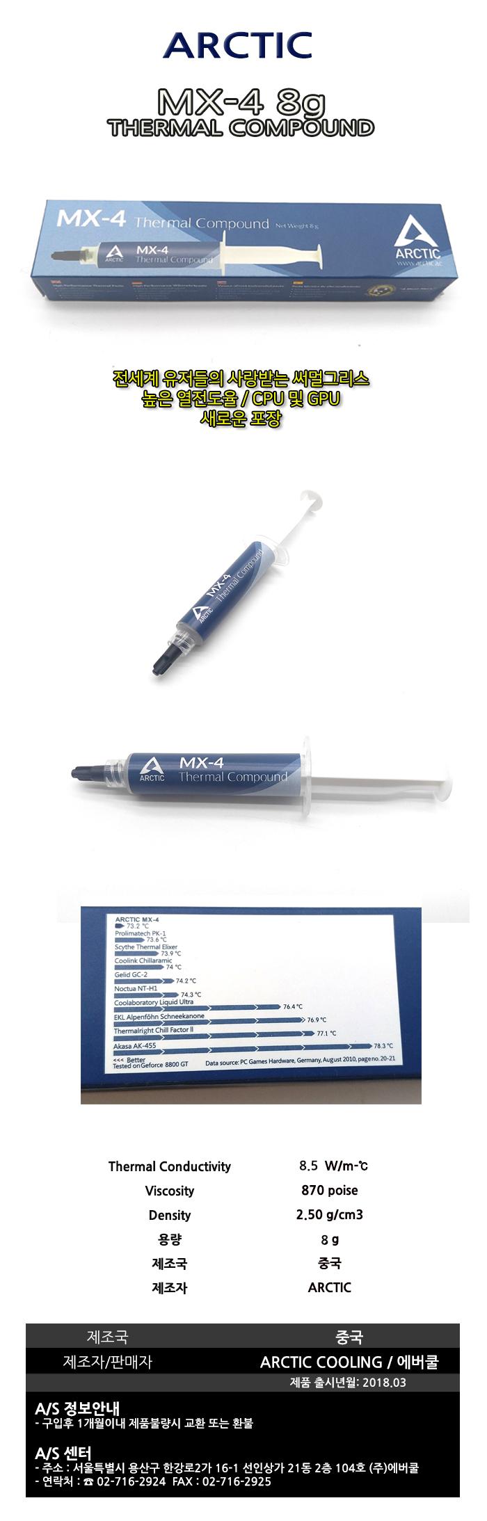ARCTIC  MX-4(8g)