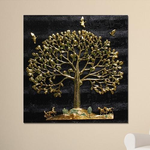 바이오메이트 하이아트 황금나무 말 가죽 부조판화액자 HPR-306_이미지