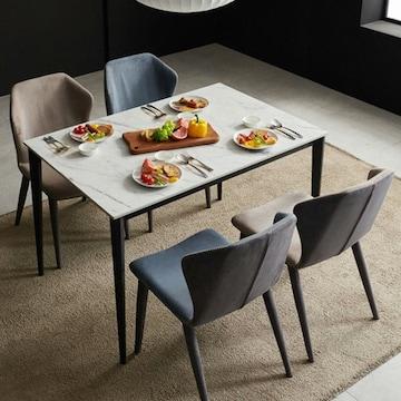보니애가구 팬시 통세라믹 식탁세트 1200 (의자4개)_이미지