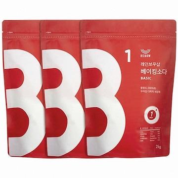 레인보우샵 베이킹소다 베이직 2kg(3개)