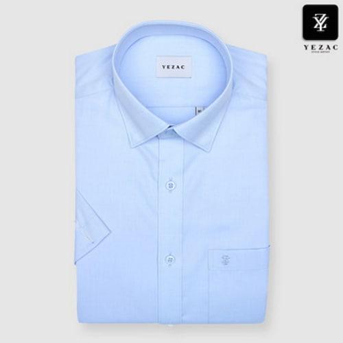 패션그룹형지 예작 트윌 솔리드 일반핏 반소매 셔츠 YJ8MBR601BL_이미지