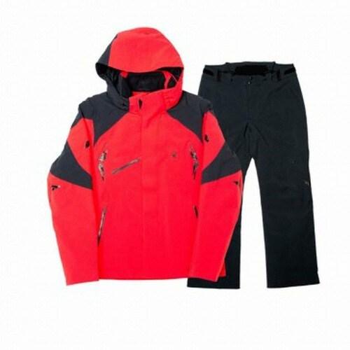 스파이더  가르미슈 남성 스키 자켓+보르미오 팬츠 세트 153035+153042 레드+블랙_이미지