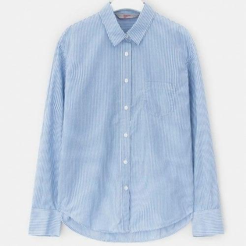 삼성물산 에잇세컨즈 블루 베이직 스트라이프 셔츠 328764CY1P_이미지