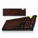 K660 ARC SA 초콜릿 믹스 카일광축 완전방수 오렌지 LED 키보드