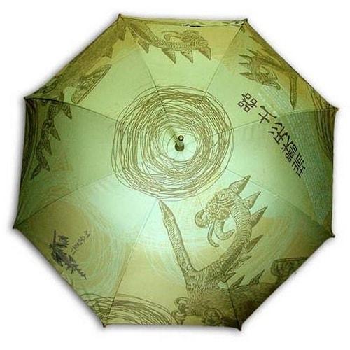 레인보우 헬로우레인캣츠 서수형인물토기(W) 자동 우산_이미지