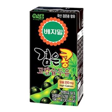 정식품  베지밀 검은콩 두유 고칼슘 190ml (48개)