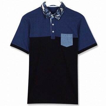 까르뜨블랑슈 패턴 카라넥 반팔 티셔츠