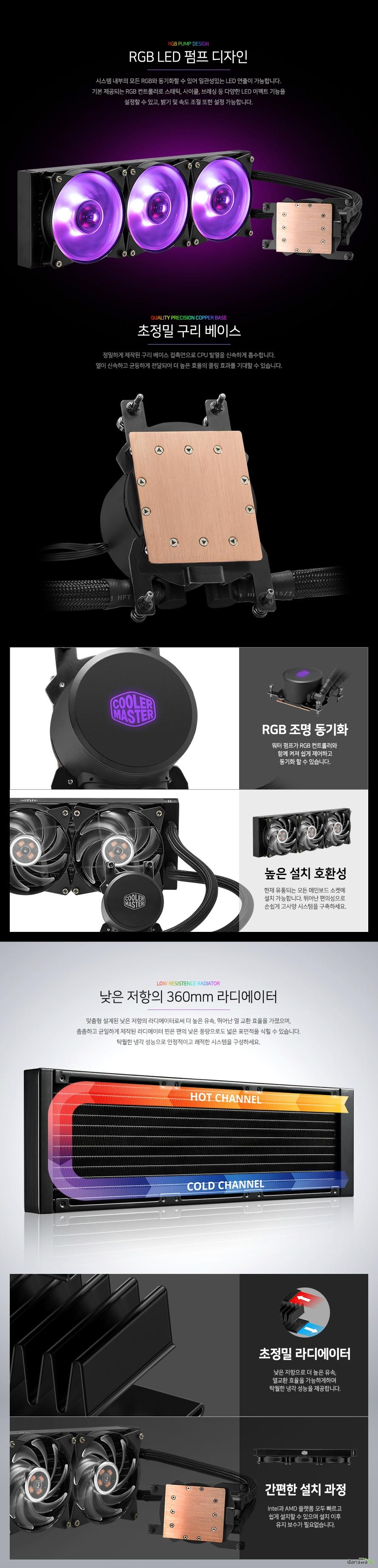 쿨러마스터 MasterLiquid ML360 RGB TR4 EDITION