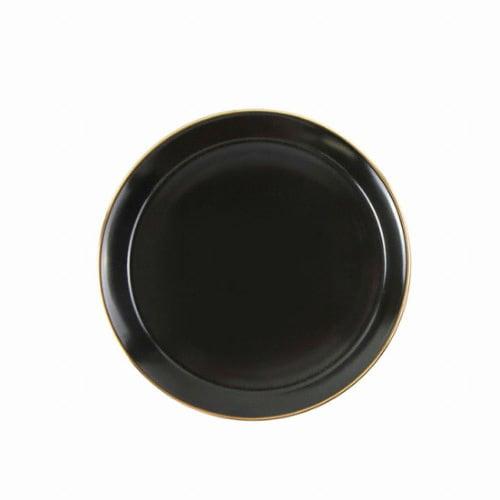 예인산업 윌리브 골드림 블랙 10인치 접시 대_이미지