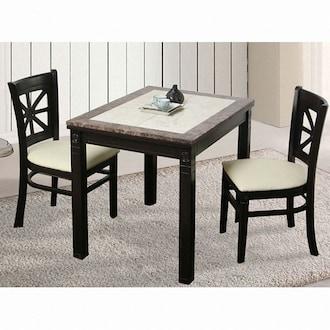 루쏘퍼니처 트리에 리베 대리석 식탁세트 850 (의자2개)_이미지