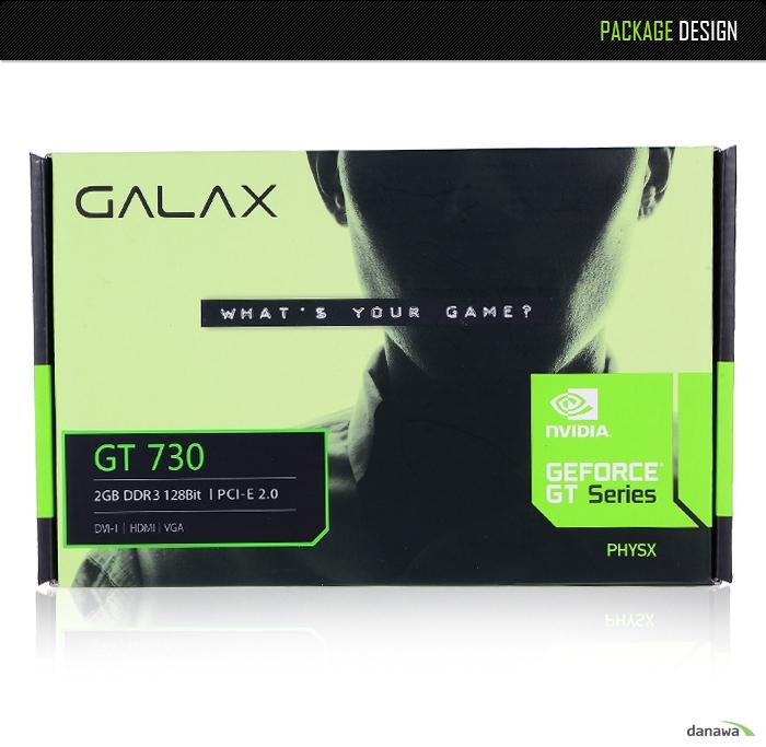 GALAX 지포스 GT730 D3 2GB 제품 패키지 구성