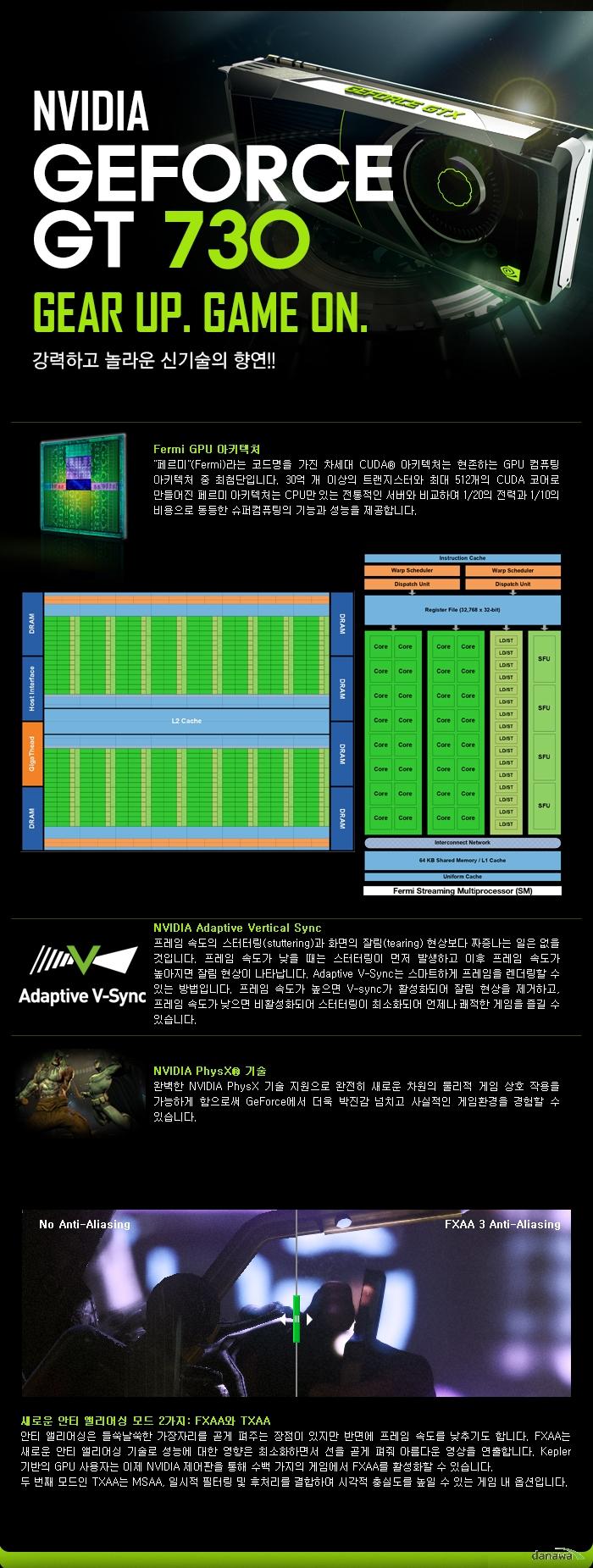 GALAX 지포스 GT730 D3 2GB의 제품 기술설명