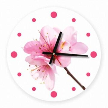 꾸밈 벚꽃 인테리어 벽시계 원형