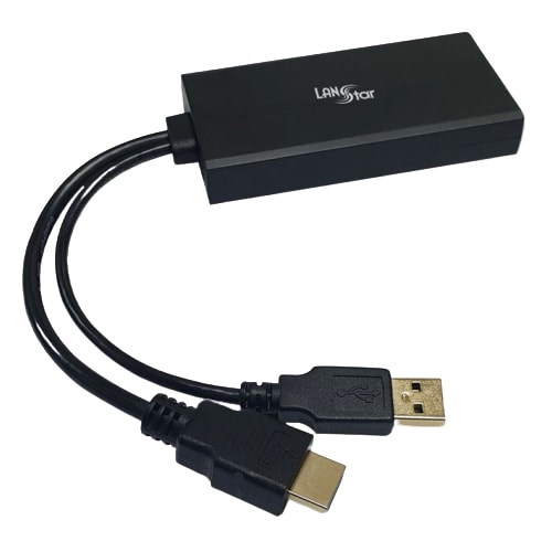 라인업시스템 LANSTAR HDMI 2.0 to DisplayPort 1.2 변환 컨버터 (LS-HD2DP)