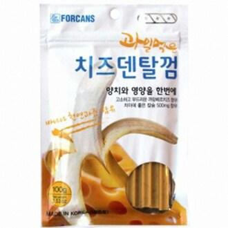 포켄스 과일먹은 치즈덴탈껌 바나나 100g (1개)_이미지