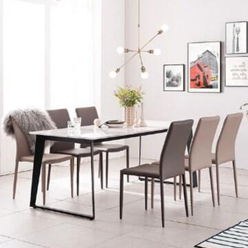 헤이미쉬홈  칸토 비앙코카라라 대리석 식탁세트 1800 (의자6개)