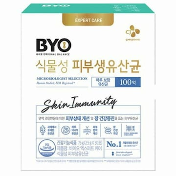 CJ제일제당 BYO 식물성 피부 생유산균 30포 (3개)