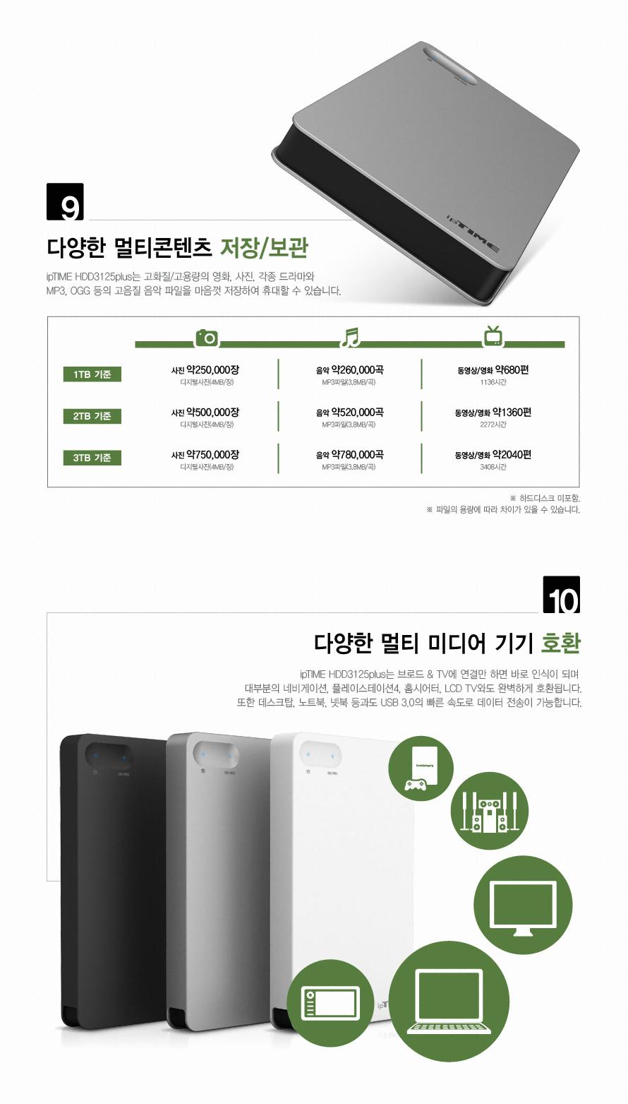 EFM ipTIME HDD 3125 Plus(1TB)