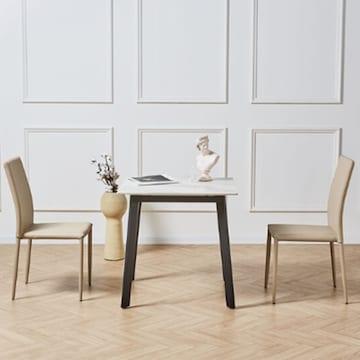 파란들 베라루시 세라믹 식탁세트 (의자2개)_이미지