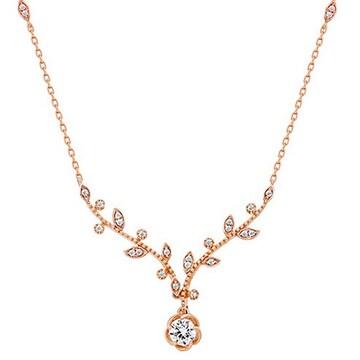 몰리즈 18K 스톡 3부 다이아몬드 목걸이