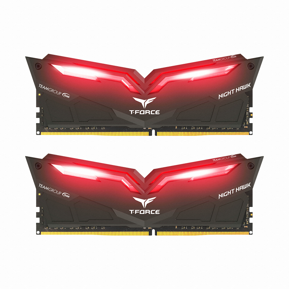 TeamGroup T-Force DDR4 32G PC4-25600 CL16 Night Hawk Red (16Gx2)