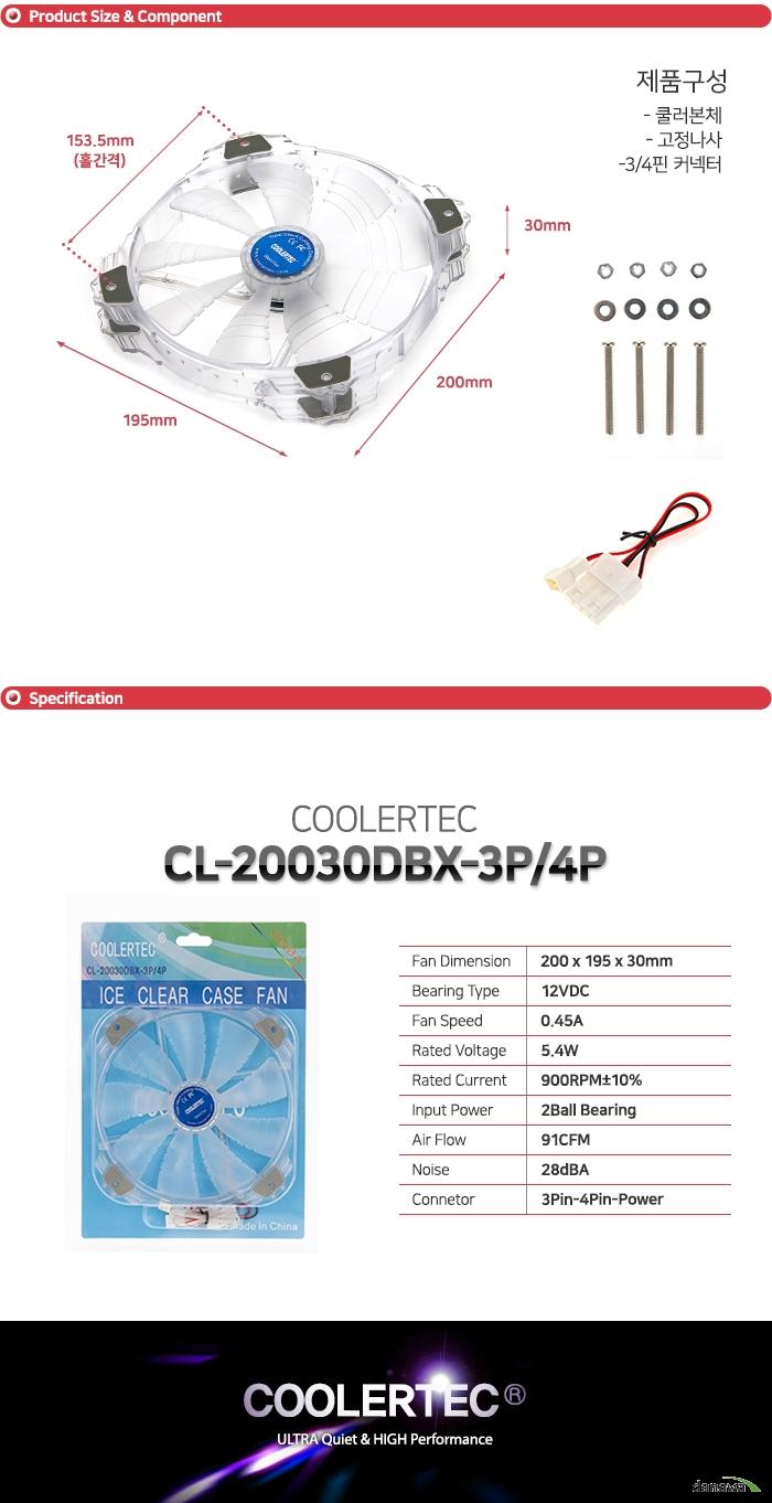 COOLERTEC  CL-20030DBX-3P/4P