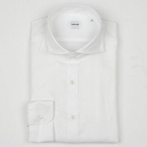 지엠아이 밴브루 트윌 솔리드 와이드 슬림핏 셔츠 BGFSL11105WH_이미지