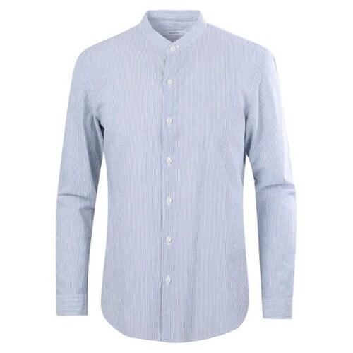 신성통상 지오지아 추연사 스트라이프 캐쥬얼 셔츠 ABY2WC1110BL_이미지