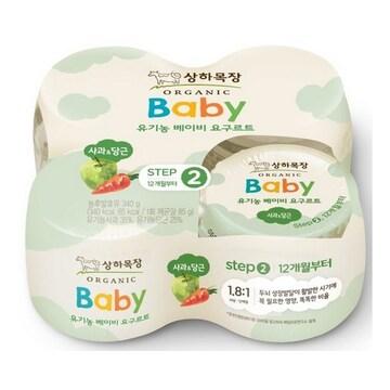 매일유업 상하목장 유기농 베이비 요구르트 2단계 사과당근 85g (4개)