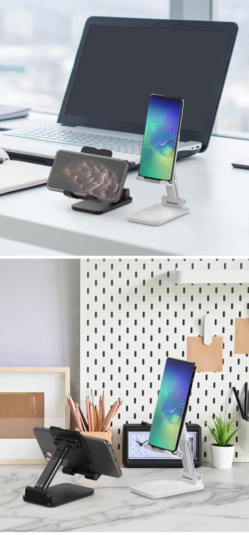 이지넷유비쿼터스 스마트폰 탁상용 접이식 거치대 NEXT-MOH360A