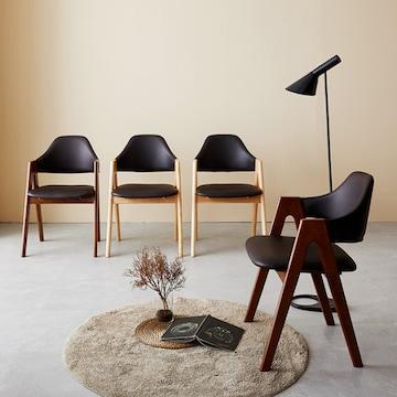 진성무역 나무뜰 넬리 원목 카페 의자