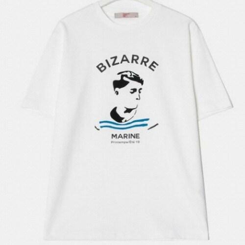삼성물산 에잇세컨즈 남성 화이트 원 포인트 티셔츠 219342AYD1_이미지