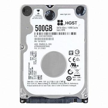 HGST 500GB Travelstar Z5K500.B HTS545050B7E660 (SATA3/5400/16M/노트북용)