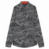아르마니 아르마니 익스체인지 기하학 패턴 셔츠 1417320001_이미지