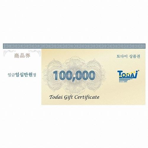토다이 외식 상품권 (10만원)