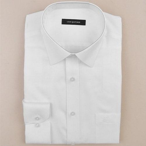 루이까또즈  화이트 긴소매 클래식핏 셔츠 L51571_이미지