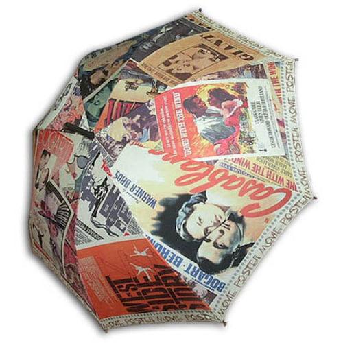 레인보우 헬로우레인캣츠 올드무비포스터 자동 우산_이미지