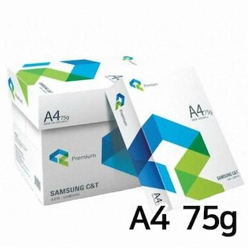 삼성물산  프리미엄 복사용지 A4 75g (5팩, 2500매)